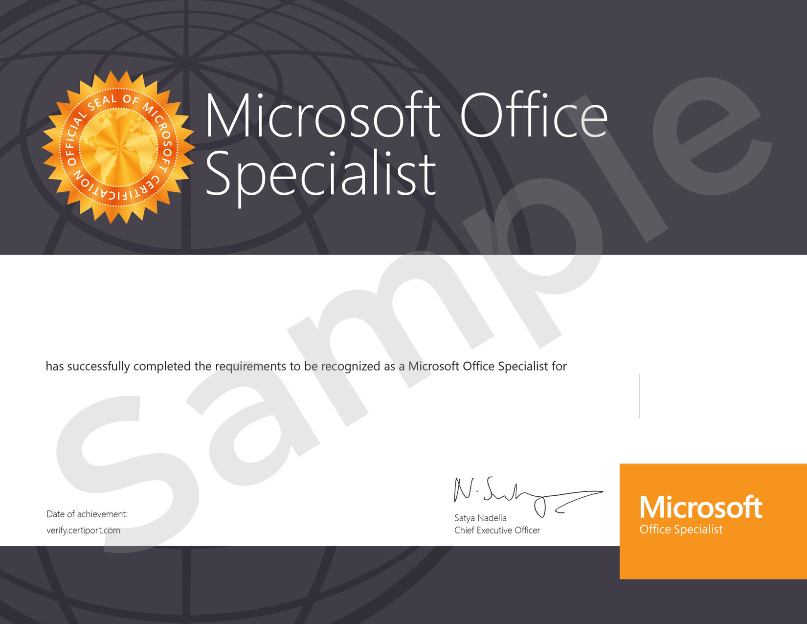 Microsoft Office Specialist Expert Certificate